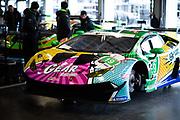 January 22-26, 2020. IMSA Weathertech Series. Rolex Daytona 24hr. #19 GEAR Racing powered by GRT Grasser, Lamborghini Huracan GT3, Christina Nielsen, Katherine Legge, Tati Calderon, Rahel Frey