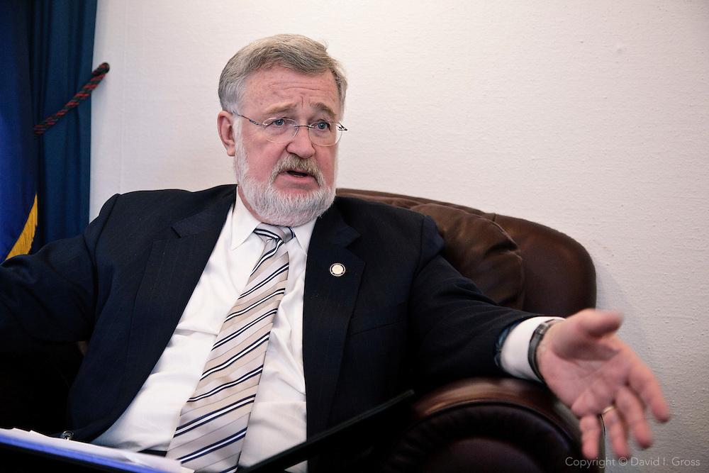 President of the Alaska State Senate Gary Stevens (R) in his offices.