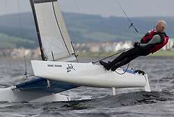 Largs Regatta Week 2017 <br /> <br /> Day 2, Catamaran, GBR96, A-Classic, John Connelly<br /> <br /> Picture Marc Turner