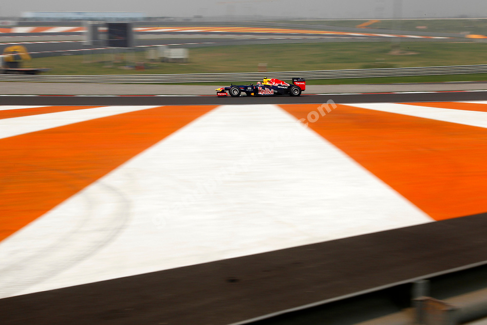 Mark Webber (Red Bull-Renault) during Saturday practice the 2012 Indian Grand Prix at the Buddh International Circuit outside Delhi. Photo: Grand Prix Photo