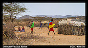 Samburu Villagers<br /> Outside Samburu National Reserve, Kenya<br /> September 2012