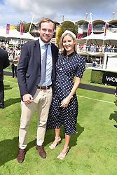 29 July 2021 - The QATAR Goodwood Festival Ladies Day at Goodwood Racecourse, West Sussex.<br /> Picture Shows - The Earl of Medina and Bella Buchannan.<br /> <br /> NON EXCLUSIVE - WORLD RIGHTS
