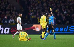 January 30, 2019 - Nantes, France - Carton jaune pour Kevin Monnet Paquet ( Saint Etienne ) - Frank SCHNEIDER  (Credit Image: © Panoramic via ZUMA Press)