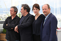 Jean-Marie Larieu, Arnaud Larrieu, Jury President Ursula Meier and Sylvain Fage at the Camera D'or jury photo call at the 71st Cannes Film Festival, Thursday 10th May 2018, Cannes, France. Photo credit: Doreen Kennedy