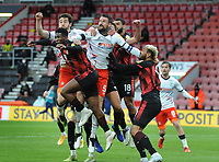Football - 2020 /2021 Sky Bet Championship - AFC Bournemouth vs Luton Town - Vitality Stadium<br /> <br /> Sonny Bradley of Luton out jumps the pack<br /> <br /> COLORSPORT/ANDREW COWIE