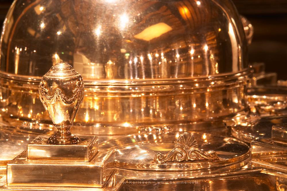 A big silver wine cooler detail Ulriksdal Ulriksdals Wärdshus Värdshus Wardshus Vardshus Restaurant, Stockholm, Sweden, Sverige, Europe