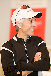Joan Samuelson appears at NikeTown event prior to Women's Olympic Trials Marathon