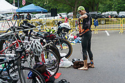 Chris Hague during the T1 swin to  bike transition in the 2018 Hague Endurance Festival Olympic  Triathlon