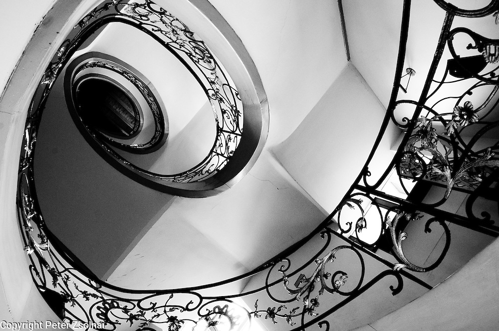 Spiral staircase in a building in Berlin, Germany