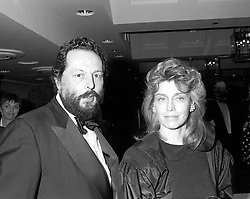 The EARL OF STOCKTON and LADY (MIRANDA) NUTTALL at a n awards dinner in London on 22nd January 1991.
