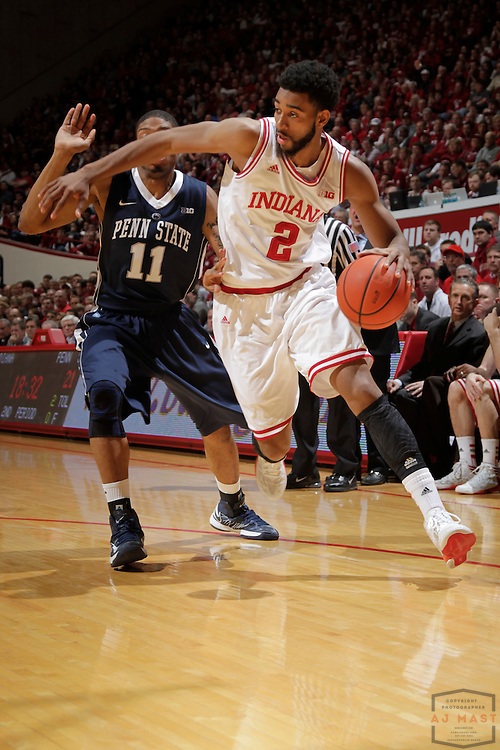 23 January 2013: Indiana forward Christian Watford (2) as the Indiana Hoosiers played the Penn State Nittnay Lions in a college basketball game in Bloomington, Ind.