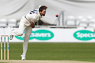 James Fuller of Hampshire bowling during the opening day of the Specsavers County Champ Div 1 match between Yorkshire County Cricket Club and Hampshire County Cricket Club at Headingley Stadium, Headingley, United Kingdom on 27 May 2019.