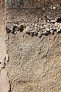 Concrete wall in Ciego de Avila, Cuba.