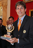 20090528: FUNCHAL, PORTUGAL Ð Nacional Madeira striker Nene receives the Golden Ball, after scoring 20 goals on the Portuguese League 2008/2009. Nene is being followed by SL Benfica, FC Porto, Arsenal, Lyon, AS Roma and Hamburg, among other teams. In picture: Nene. <br />PHOTO: Octavio Passos/CITYFILES