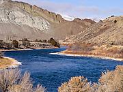 Meandering Salmon River north of Colston, Idaho.