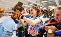 HAMBURG  (Ger) - Match 20,  for FINAL, LMHC Laren - Dinamo Elektrostal (Rus) (3-1).  Photo: European Champion , LMHC Laren. , Maxime Kerstholt (Laren) , Pam van Asperen (Laren)   Eurohockey Indoor Club Cup 2019 Women . WORLDSPORTPICS COPYRIGHT  KOEN SUYK