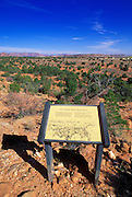 Sign along the loop trail describing the Kaibab Paiute Reservation which completely surrounds Pipe Spring, Pipe Spring National Monument, Arizona