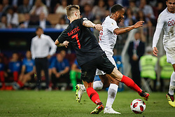 July 11, 2018 - Moscow, Vazio, Russia - Ivan RAKITIC of Croatia and Raheem STERLING of England during the match between England and Croatia valid for the semi final of the 2018 World Cup, held at the Lujniki Stadium in Moscow, Russia. Croatia wins 2-1. (Credit Image: © Thiago Bernardes/Pacific Press via ZUMA Wire)