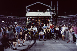Grateful Dead Live at Soldier Field Chicago. The night before the last show ever performed by the band, July 8, 1995. Friends, Fans and Crew hanging out behind the Lighting Booth between sets.