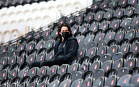 Hull City's George Honeyman watches on from the stand<br /> <br /> Photographer Ed Sykes/CameraSport<br /> <br /> The EFL Sky Bet League One - Hull City v Fleetwood Town - Saturday 17th April 2021 - KCOM Stadium - Kingston upon Hull<br /> <br /> World Copyright © 2021 CameraSport. All rights reserved. 43 Linden Ave. Countesthorpe. Leicester. England. LE8 5PG - Tel: +44 (0) 116 277 4147 - admin@camerasport.com - www.camerasport.com