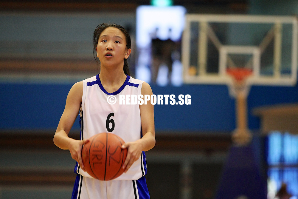 Jurong East Sports Hall, Tuesday, August 6, 2013 – The Singapore Chinese Girls' School (SCGS) beat CHIJ Secondary (Toa Payoh) 55–41 to win the South Zone C Division Girls' Basketball Championship.