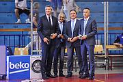 DESCRIZIONE : Campionato 2014/15 Serie A Beko Grissin Bon Reggio Emilia - Dinamo Banco di Sardegna Sassari Finale Playoff Gara7 Scudetto<br /> GIOCATORE : Luigi LaMonica Roberto Chiari Dino Seghetti Carmelo Paternicò<br /> CATEGORIA : Arbitro Referee Before Pregame<br /> SQUADRA : AIAP<br /> EVENTO : LegaBasket Serie A Beko 2014/2015<br /> GARA : Grissin Bon Reggio Emilia - Dinamo Banco di Sardegna Sassari Finale Playoff Gara7 Scudetto<br /> DATA : 26/06/2015<br /> SPORT : Pallacanestro <br /> AUTORE : Agenzia Ciamillo-Castoria/L.Canu