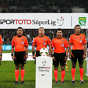 Referee's Ilker Meral (C) during their Turkish superleague soccer match Kayserispor Erciyesspor between Besiktas at Kadir Has Stadium in Kayseri Turkey on Monday 27 October 2014. Photo by Aykut AKICI/TURKPIX