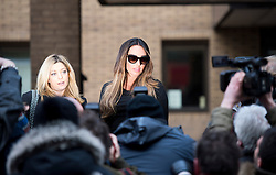 © London News Pictures. 18/02/2013 . London, UK.  Tamara Ecclestone (centre), the daughter of Formula 1 Supremo, Bernie Ecclestone, leaving Southwark Crown Court on February 18, 2013 where two men are standing trial for allegedly blackmailing Tamara Ecclestone for for £200,000. Photo credit : Ben Cawthra/LNP