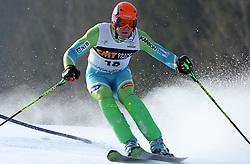Bernard Vajdic at first run of 9th men's slalom race of Audi FIS Ski World Cup, Pokal Vitranc,  in Podkoren, Kranjska Gora, Slovenia, on March 1, 2009. (Photo by Vid Ponikvar / Sportida)