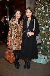 Left to right, YASMIN MILLS and her daughter LAURIE MILLS at a VIP evening hosted by Joely Richardson at the Tiffany & Co Christmas Shop, Tiffany & Co Old Bond Street, London on 24th November 2013.