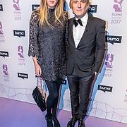 NLD/Hilversum//20170306 - uitreiking Buma Awards 2017, Annemieke Schollaardt en partner Phil Tilli
