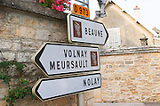 Beaune, Volnay, Meursault, Nolay. The village. Pommard, Cote de Beaune, d'Or, Burgundy, France