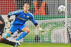 19.10.2011, BayArena, Leverkusen, GER, UEFA CL, Gruppe E, Bayer Leverkusen (GER) vs Valencia CF (ESP), im Bild.Bernd Leno (Torwart Leverkusen/Leihe aus Stuttgart)..// during the UEFA CL, group E, Bayer 04 Leverkusen (GER) vs Valencia CF (ESP) on 2011/10/19, at BayArena, Leverkusen, Germany. EXPA Pictures © 2011, PhotoCredit: EXPA/ nph/  Mueller       ****** out of GER / CRO  / BEL ******