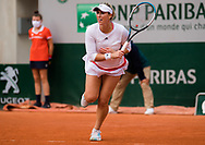 Alexa Guarachi of Chile in action during the doubles semi-final of the Roland Garros 2020, Grand Slam tennis tournament, on October 9, 2020 at Roland Garros stadium in Paris, France - Photo Rob Prange / Spain ProSportsImages / DPPI / ProSportsImages / DPPI