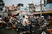 Ho Chi Minh City (Saigon), Vietnam. .March 16th 2007..Traffic in Ho Chi Minh City.