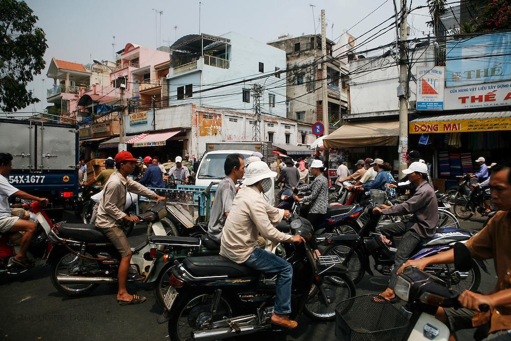 Ho Chi Minh City (Saigon), Vietnam. .March 16th 2007..Traffic in Ho Chi Minh City.