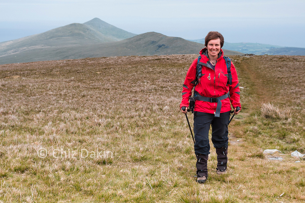 The North Barrule ridgeline is long and undulating