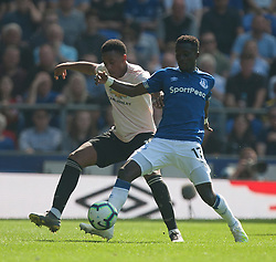 Anthony Martial of Manchester United (L) and Idrissa Gueye of Everton in action - Mandatory by-line: Jack Phillips/JMP - 21/04/2019 - FOOTBALL - Goodison Park - Liverpool, England - Everton v Manchester United - English Premier League