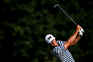 Jun 30, 2018; Potomac, MD, USA; Billy Horschel plays from the rough on the 18th hole during the third round of The National golf tournament at TPC Potomac at Avenel Farm. Mandatory Credit: Peter Casey-USA TODAY Sports