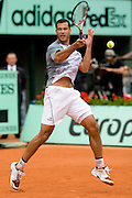 Paris, France. May 28th 2009. .Roland Garros - Tennis French Open. 2nd Round..Argentinian player Jose Acasuso against Roger Federer
