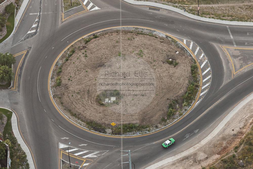 A traffic circle in San Miguel de Allende, Mexico.