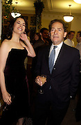 Nigella Lawson and her father Nigel Lawson, 'Feast Food that celebrates Life' by Nigella Lawson book launch. Cadogan Hall, Sloane Terace. 11 October 2004. ONE TIME USE ONLY - DO NOT ARCHIVE  © Copyright Photograph by Dafydd Jones 66 Stockwell Park Rd. London SW9 0DA Tel 020 7733 0108 www.dafjones.com