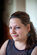 Barvalipe: The 2nd Roma Pride Summer Camp for young Roma from Central and Eastern Europe at Szentendre Island near Budapest, Hungary. Pictured Maria Adriana Chefelan from Rumania  - Portraits of participants which talked about their experiences at Barvalipe (Audio file existing).