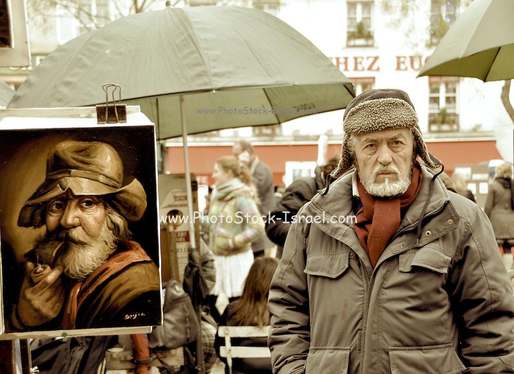 France, Paris, Artist's market, Latin Quarters