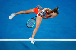 January 19, 2019 - Melbourne, VIC, U.S. - MELBOURNE, VIC - JANUARY 18: PETRA MARTIC (CRO) during day five match of the 2019 Australian Open on January 18, 2019 at Melbourne Park Tennis Centre Melbourne, Australia (Photo by Chaz Niell/Icon Sportswire) (Credit Image: © Chaz Niell/Icon SMI via ZUMA Press)