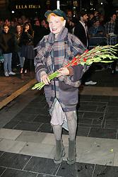 Vivienne Westwood, Barry Humphries Eat, Pray, Laugh - press night, London Palladium, London UK, 15 November 2013, Photo by Richard Goldschmidt © Licensed to London News Pictures. Photo credit : Richard Goldschmidt/Piqtured/LNP