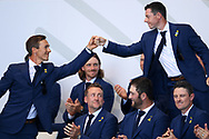 Thorbjorn Olesen (Den) and Rory McIlroy (Irl) during the Opening Ceremony of Ryder Cup 2018, at Golf National in Saint-Quentin-en-Yvelines, France, September 27, 2018 - Photo Philippe Millereau / KMSP / ProSportsImages / DPPI