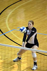 13 October 2011: Shannon McGlaughlin during an NCAA volleyball match between the Indiana State Sycamores and the Illinois State Redbirds at Redbird Arena in Normal Illinois.