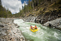 Whitewater rafting on the Stanislaus River, CA.