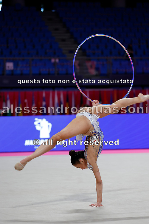 Oiva Chisaki at the World Cup Pesaro on Virtifigo Arena,  May 28-29, 2021. Chisaki is a Japanese athlete born in 2001.
